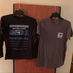 Boys Quiksilver t shirts medium short long sleeve